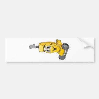 Yellow Vacuum Cleaner Bumper Sticker