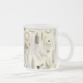 Yellow Vanity Table Frosted Glass Coffee Mug