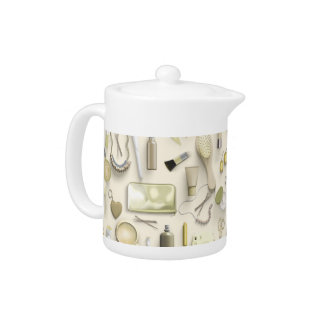 Yellow Vanity Table Teapot