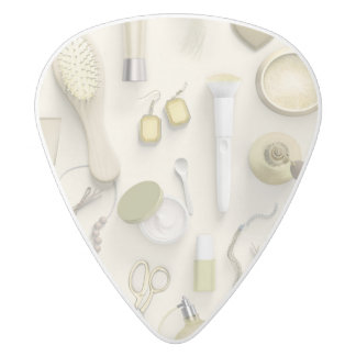 Yellow Vanity Table White Delrin Guitar Pick