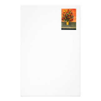 """""""Yellow Vase"""" Floral Stationery"""