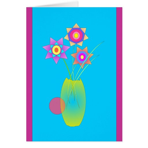 Yellow vase greeting card