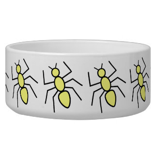 Yellow Vector Ants Dog Water Bowls