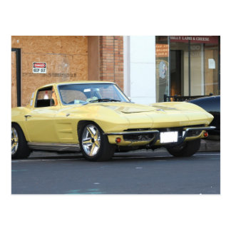 Yellow Vette Postcard