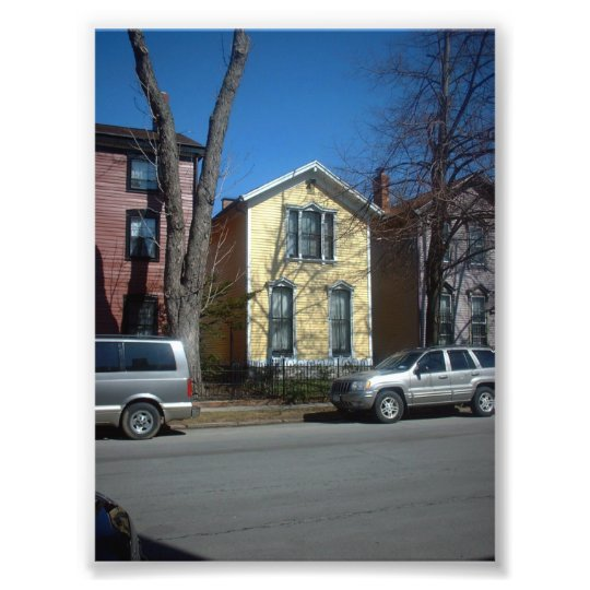 Yellow Victorian House in Buffalo New York Photo Print