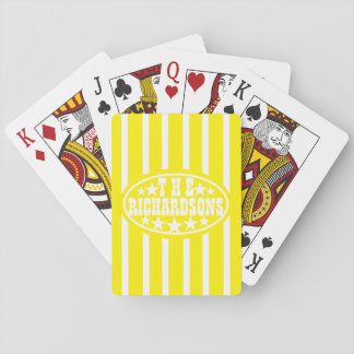 Yellow Vintage Carnival Family Playing Cards