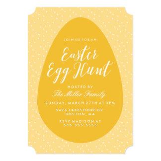 Yellow Vintage Easter Egg Hunt Card