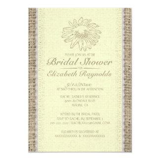 Yellow Vintage Lace Bridal Shower Invitations Custom Invites