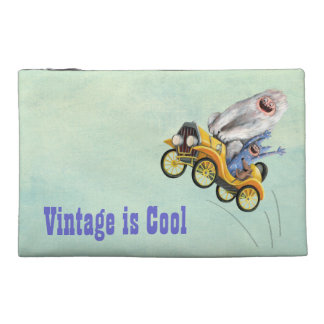 Yellow Vintage Monster Car Travel Accessory Bags