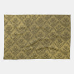 Yellow Vintage Wallpaper Hand Towels