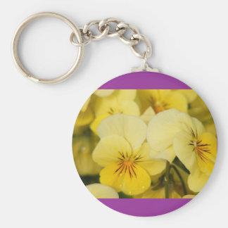Yellow Violas (Pansies) Keychains