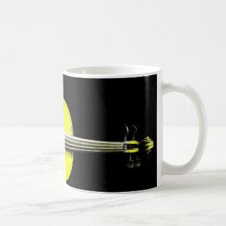 Yellow Violin Design on a Mug - Customized
