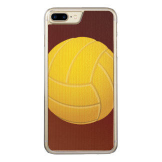 Yellow Volleyball Earthy Red Background Carved iPhone 8 Plus/7 Plus Case