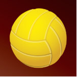 "Yellow Volleyball Earthy Red Background Cutout<br><div class=""desc"">Exclusive product just for the volleyball lovers or game enthusiasts of all stripes. Yellow Volleyball Earthy Red Background.  Add your own text or monogram to customize it for your favorite sport nut.</div>"
