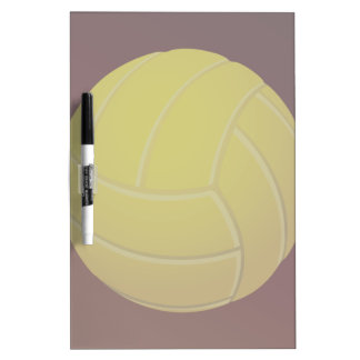 Yellow Volleyball Earthy Red Background Dry-Erase Board