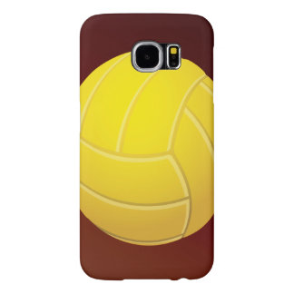 Yellow Volleyball Earthy Red Background Samsung Galaxy S6 Case