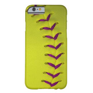 Yellow w/Purple Stitches Baseball/Softball Barely There iPhone 6 Case