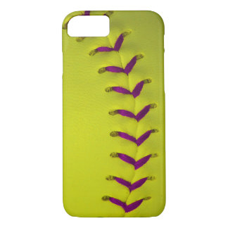 Yellow w/Purple Stitches Baseball/Softball iPhone 7 Case