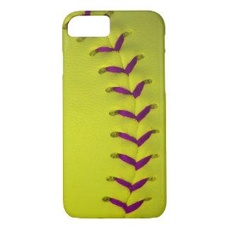 Yellow w/Purple Stitches Baseball/Softball iPhone 7 Case