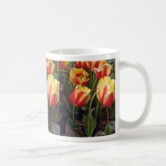 Yellow W/ Red Tulips flowers Coffee Mugs