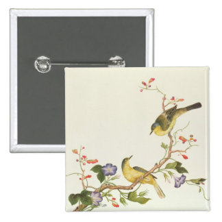 Yellow Wagtail with blue head Pinback Button