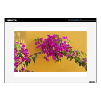 Yellow Wall Pink Flower Arch Sunshine Decals For Laptops