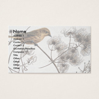 Yellow warbler business card