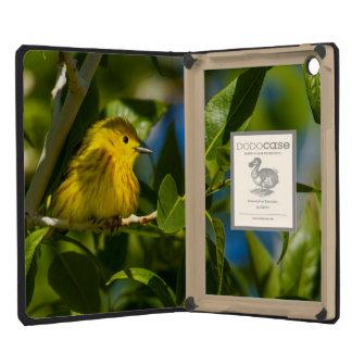 Yellow Warbler In Tree Near Augusta, Montana iPad Mini Retina Cover
