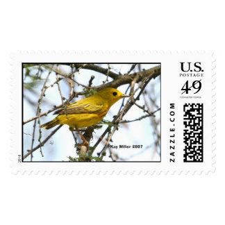 Yellow Warbler,  Kay Miller 2007 Postage