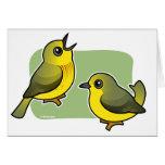 Yellow Warbler pair Card