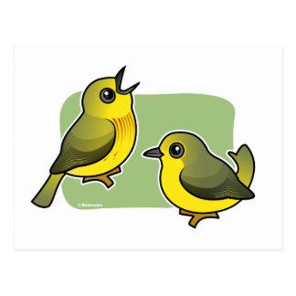 Yellow Warbler pair Postcard