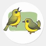 Yellow Warbler pair Round Sticker