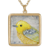 Yellow Warbler Tilly Vintage Edition Necklace