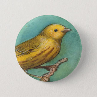Yellow Warbler Watercolor Button