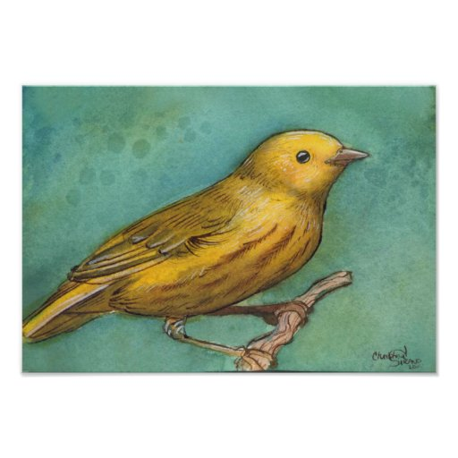 Yellow Warbler Watercolor Posters