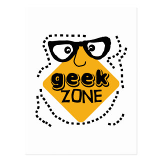 Yellow Warning Geek Zone Postcard