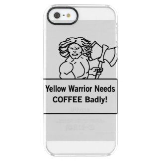 Yellow warrioe needs coffee badly clear iPhone SE/5/5s case