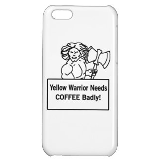 Yellow warrioe needs coffee badly cover for iPhone 5C