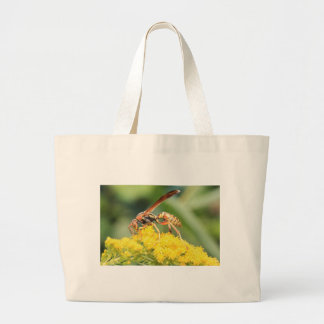 Yellow Wasp Jumbo Tote Bag