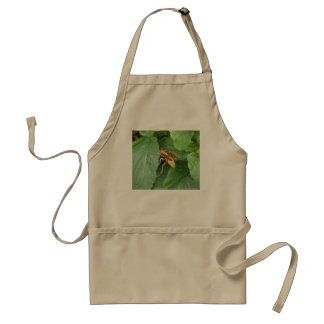 Yellow Wasp Straddling Leaves Adult Apron