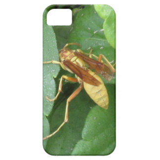 Yellow Wasp Straddling Leaves iPhone 5 Case
