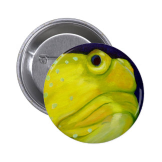 Yellow Watchman Goby Fish Button