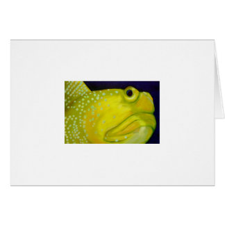 Yellow Watchman Goby Fish Card