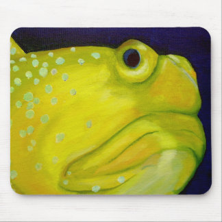 Yellow Watchman Goby Fish Mouse Pad