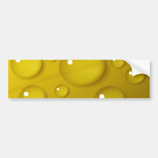 Yellow Water Drop Background Bumper Sticker