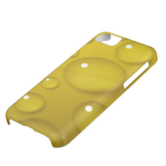 Yellow Water Drop Background Cover For iPhone 5C