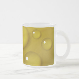 Yellow Water Drop Background Frosted Glass Coffee Mug