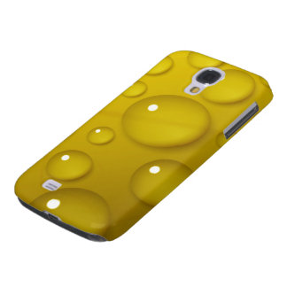 Yellow Water Drop Background Galaxy S4 Cover