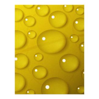 Yellow Water Drop Background Letterhead