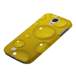 Yellow Water Drop Background Samsung Galaxy S4 Cover